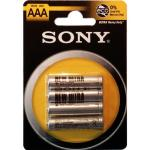 4 BATTERIE PILE SONY MINISTILO AAA R03 ULTRA HEAVY DUTY 1.5V IN BLISTER